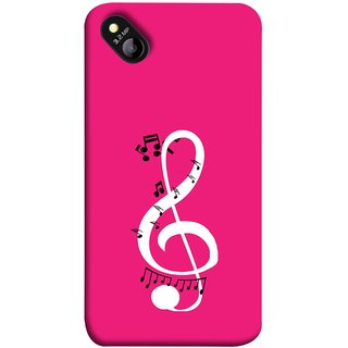 FUSON Designer Back Case Cover for Micromax Bolt D303 (Disc Music Notes Music Lover And Collector )