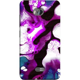 FUSON Designer Back Case Cover for Micromax Bolt Q336 (Purple Painting Wallpaper White Iceberg River Flow)