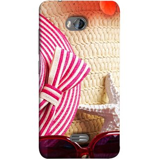 FUSON Designer Back Case Cover for Micromax Bolt Q336 (Tropical Beach In Summer Holiday Toy Table )