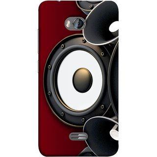 FUSON Designer Back Case Cover for Micromax Bolt Q336 (Black Speaker Music Listen Youth Boys)
