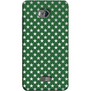 FUSON Designer Back Case Cover for Micromax Bolt Q336 (Small Lot Of Stars Green Back Shining Glossy)