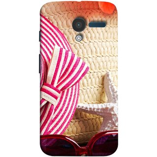 FUSON Designer Back Case Cover for Motorola Moto X :: Motorola Moto  X (1st Gen) XT1052 XT1058 XT1053 XT1056 XT1060 XT1055  (Tropical Beach In Summer Holiday Toy Table )