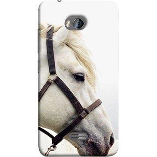 FUSON Designer Back Case Cover for Micromax Bolt Q336 (Beautiful Horse White Closeup Canvas Wallpaper)