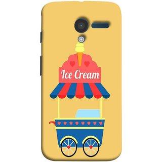FUSON Designer Back Case Cover for Motorola Moto X :: Motorola Moto  X (1st Gen) XT1052 XT1058 XT1053 XT1056 XT1060 XT1055  (Ice Cone Pineapple Flavour Wheels Hearts Shade )