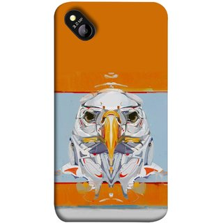 FUSON Designer Back Case Cover for Micromax Bolt D303 (Stearing Eyes Deadly Look Canvas Vision Bird Sky High)