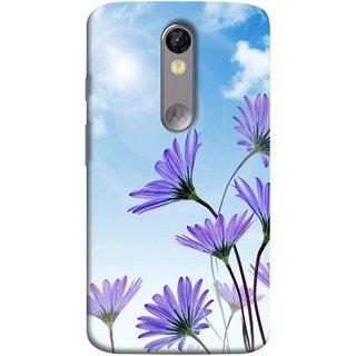 FUSON Designer Back Case Cover for Motorola Moto X Force :: Motorola Moto X Force Dual SIM (Daisy Flower Garden Blue Sky White Clouds )