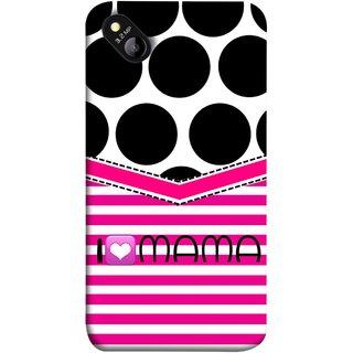 FUSON Designer Back Case Cover for Micromax Bolt D303 (Pink Design Paper Big Black Circles Bubbles Mother )