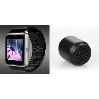 Clairbell GT08 Smart Watch and Hopestar H8 Bluetooth Speaker for Samsung Galaxy C7 Pro(GT08 Smart Watch with 4G sim card, camera, memory card |Hopestar H8 Bluetooth Speaker  )