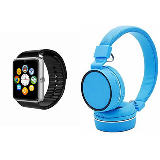 Mirza GT08 Smart Watch and SH 10 Bluetooth Headphone for MOTOROLA moto g(GT08 Smart Watch with 4G sim card, camera, memory card |SH 10 Bluetooth Headphone )