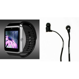 Mirza GT08 Smart Watch and Earphone  for MOTOROLA moto x(GT08 Smart Watch with 4G sim card, camera, memory card |Earphone )