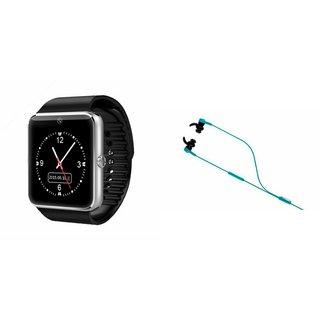 Mirza GT08 Smart Watch and Reflect Earphone  for MOTOROLA moto x (gen 2)(GT08 Smart Watch with 4G sim card, camera, memory card  Reflect  Earphone )