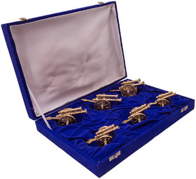 JEWEL FUEL Brass 6 Canon (Tope) Showpiece Gift Set