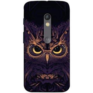 FUSON Designer Back Case Cover for Motorola Moto X Play (Big Eye Danger Perfect Owl Bird Mysterious)