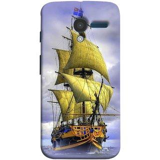 FUSON Designer Back Case Cover for Motorola Moto X :: Motorola Moto  X (1st Gen) XT1052 XT1058 XT1053 XT1056 XT1060 XT1055  (Big Ship In Ocean Vintage Tall High)