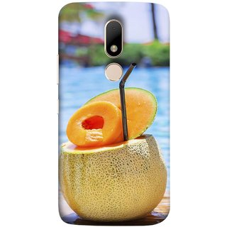 FUSON Designer Back Case Cover for Motorola Moto M (Melon Cocktails At Swimming Pool Blue Waters )