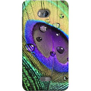 FUSON Designer Back Case Cover for Micromax Bolt Q336 (Close Up View Of Eyespot On Male Peacock Feather)
