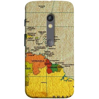 FUSON Designer Back Case Cover for Motorola Moto X Play (Altitude And Longitude Columbus World Countries )