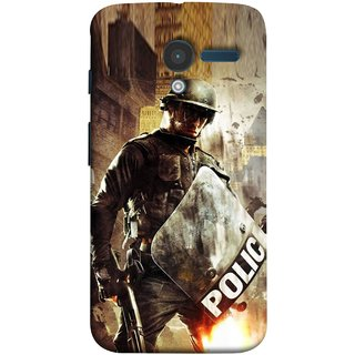 FUSON Designer Back Case Cover for Motorola Moto X :: Motorola Moto  X (1st Gen) XT1052 XT1058 XT1053 XT1056 XT1060 XT1055  (Photograph Movie Scene Anti Terror Sqad Attacks )