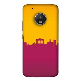 FUSON Designer Back Case Cover For Motorola Moto G5 Plus (Astounding Skyscrapers Of Remarkable Architectural)