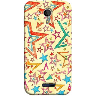 FUSON Designer Back Case Cover for Micromax Canvas Magnus A117 :: Micromax A117 Canvas Magnus (Vector Abstract Background Of Colorful 3D Stars)