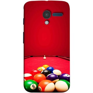 FUSON Designer Back Case Cover for Motorola Moto X :: Motorola Moto  X (1st Gen) XT1052 XT1058 XT1053 XT1056 XT1060 XT1055  (Billards Pool Game Color Balls In Triangle Aiming)