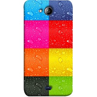 FUSON Designer Back Case Cover for Micromax Bolt Q338 (Water Droplets Multicolour Blue Red Pink Sky )