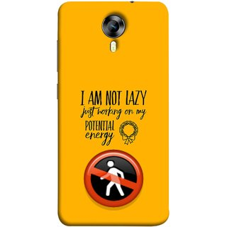 FUSON Designer Back Case Cover for Micromax CanvasNitro4G E371 (Potential Energy Your Emotions No Walk Sign)