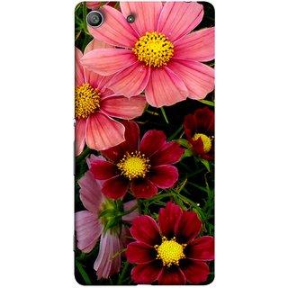 FUSON Designer Back Case Cover For Sony Xperia Z3 Compact :: Sony Xperia Z3 Mini (Flower Grass Green Small Nice Colourful Gerbera )