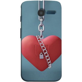 FUSON Designer Back Case Cover for Motorola Moto X :: Motorola Moto  X (1st Gen) XT1052 XT1058 XT1053 XT1056 XT1060 XT1055  (Padlock Hanging With Steel Chains Hurt Tight)