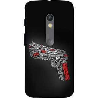 FUSON Designer Back Case Cover for Motorola Moto X Play (My Name Is The God Upon Thee Evil New Strike Down)