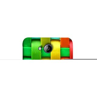 FUSON Designer Back Case Cover for Micromax Bolt Q338 (Bright And Beautiful Colour Strips And Band Wave )