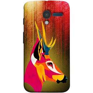 FUSON Designer Back Case Cover for Motorola Moto X :: Motorola Moto  X (1st Gen) XT1052 XT1058 XT1053 XT1056 XT1060 XT1055  (Christmas Deer Origami Merry Abstract Reindeer)