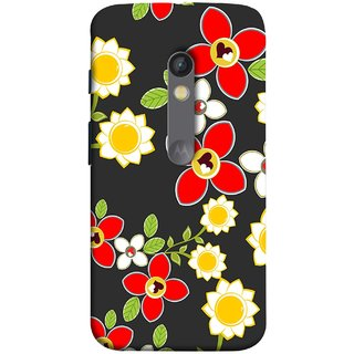 FUSON Designer Back Case Cover for Motorola Moto X Play (Floral Patterns Digital Textiles Florals Design Patterns)
