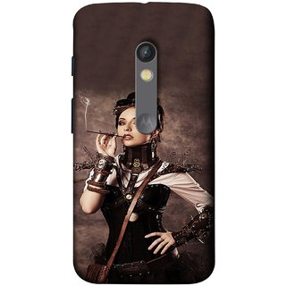 FUSON Designer Back Case Cover for Motorola Moto X Play (Mad Men Beauty Moments Betty Draper Smoking )