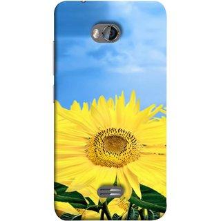 FUSON Designer Back Case Cover for Micromax Bolt Q336 (Field With Bright Blue Sky Summer Sunlight Leaves)