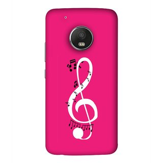 FUSON Designer Back Case Cover For Motorola Moto G5 Plus (Colorful Music Notes Symbols Small Black Notes)