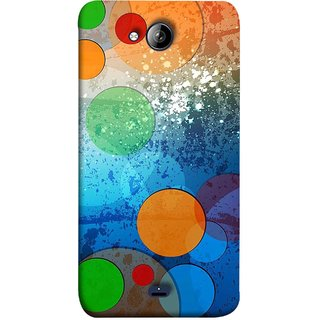 FUSON Designer Back Case Cover for Micromax Bolt Q338 (Lot Small Big Circles Glass Door Table )