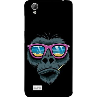 FUSON Designer Back Case Cover For Vivo Y31 :: Vivo Y31L (Pink  Toothpick Smoking Drawing Design)