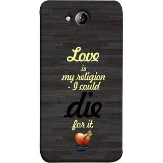 FUSON Designer Back Case Cover for Micromax Bolt Q338 (Broken Heart Arrow Quotes Pyar Hi Mera Dharm Hai)