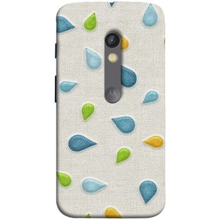 FUSON Designer Back Case Cover for Motorola Moto X Play (Water Drops Flowers Table Cloth Curtain Cloths)