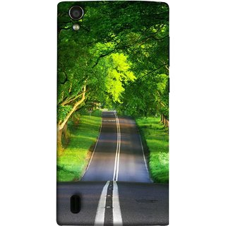 FUSON Designer Back Case Cover For Vivo Y15S :: Vivo Y15 (Road Surrounded By Mountains Beautiful Old Trees )