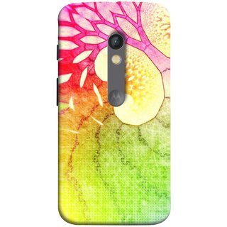 FUSON Designer Back Case Cover for Motorola Moto X Play (Colourful Art Design River Shape Random Perfect)
