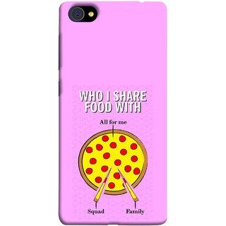 FUSON Designer Back Case Cover For Vivo X7 Plus (Pizza Hut Domino Tomato Pizza Cheese Share Sharing)