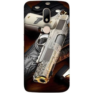 FUSON Designer Back Case Cover for Motorola Moto M (Gun Pouch Holder Loading Bullets Killing Murders )