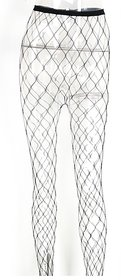 Black Lace Girls Women's Fishnet Tights