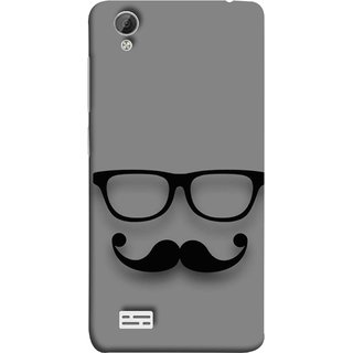 new product 9244a cfd4d FUSON Designer Back Case Cover For Vivo Y31 :: Vivo Y31L (Mustache Glasses  T-Shirt Young Boys Back Cover)