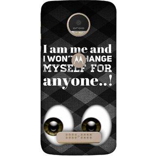 FUSON Designer Back Case Cover For Motorola Moto Z Play (For Anyone Eyes Two Logos