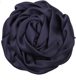 Pikaboo Rolled Satin Rose Clip - Navy