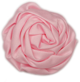 Pikaboo Rolled Satin Rose Clip - Baby Pink