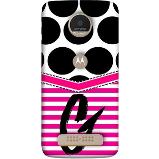 FUSON Designer Back Case Cover For Motorola Moto Z Play (Beautiful Cute Nice Couples Pink Design Paper Girly)